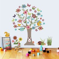 WST092 - Tree animal children's Wall Sticker