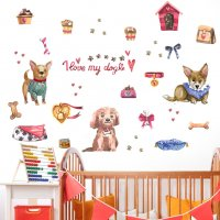 WST093 - Pet shop decorative wall sticker