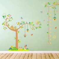 WST094 - Tree branch bird cage height stickers