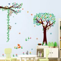 WST095 - Monkey Forest Wall Sticker