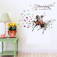 WST097 - Flower fairy Wall Sticker