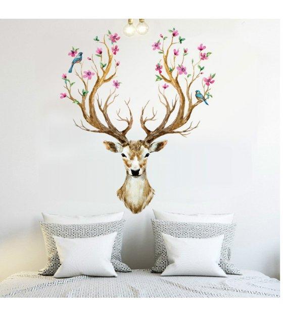 Wst006 Deer Head Wall Sticker