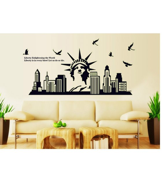 WST016 - NEW YORK WALL STICKER
