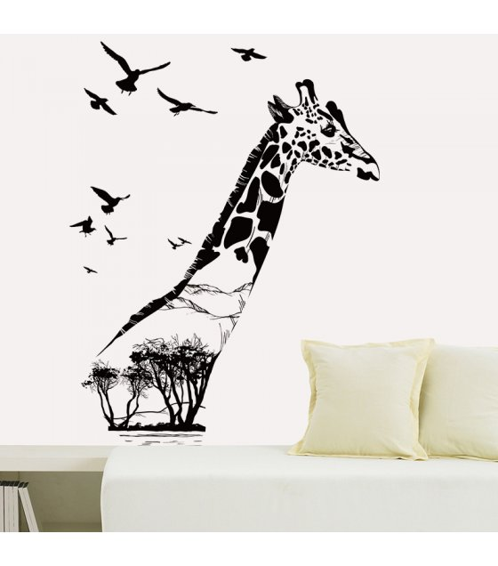 WST018 - Giraffe Animal Vinyl Removable Wall Sticker