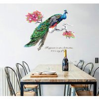WST020  - Peacock Wall Sticker