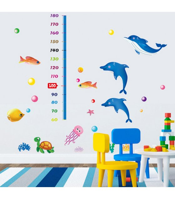 WST027 - Dolphin height stickers cartoon