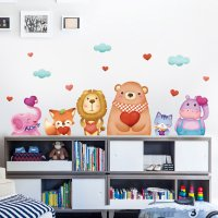 WST029 - Cartoon cute animal stickers