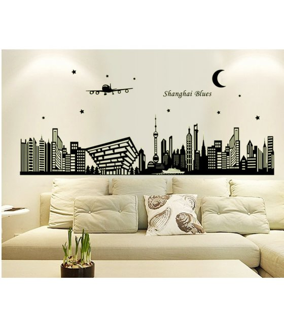 WST038 - Skyscraper Wall Sticker