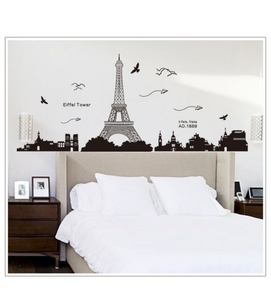 WST046 - Eiffel Tower Wall Sticker