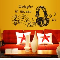 WST051 - Earphones Wall Sticker