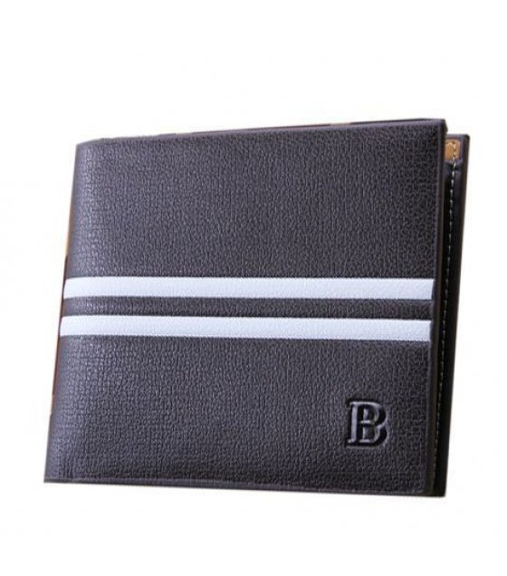 WA018 - White Stripe Mens Wallet