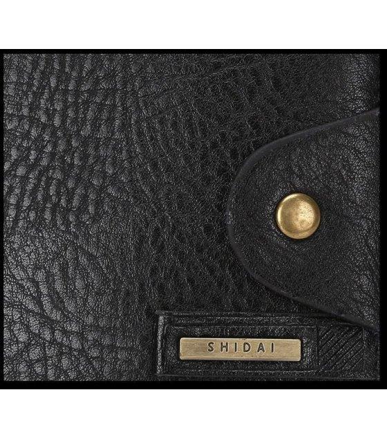 WA048 - Black Pu Leather Mens Wallet