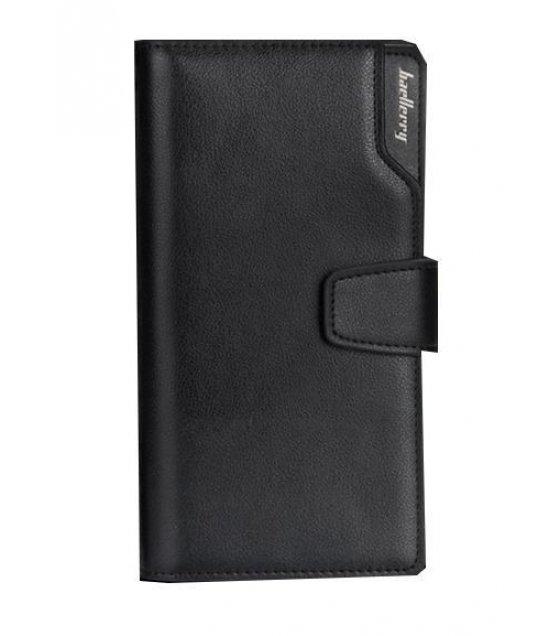 WA064 - Black  Full Card Wallet