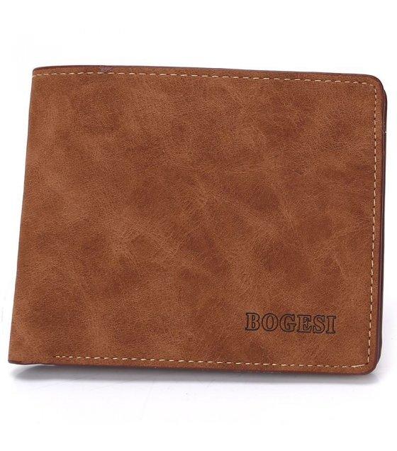 WA091 - Brown Pu Leather Wallet