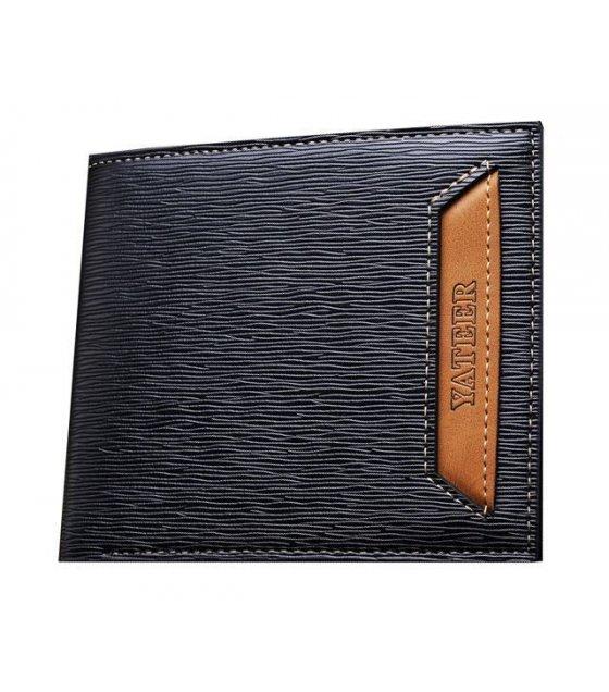 WA106 - Striped Black Mens Wallet