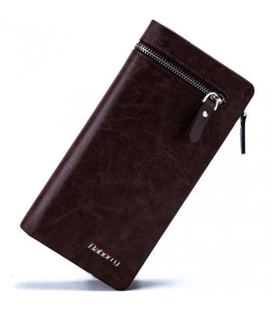 WA125 - Barborry Dark Brown Men's Wallet