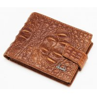 WA176 - Men's wallet leather short crocodile pattern wallet