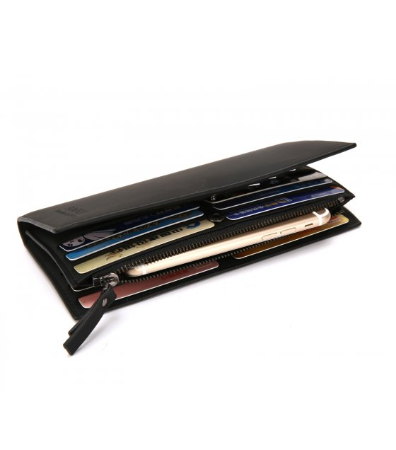 WA236 - Long zipper men's wallet