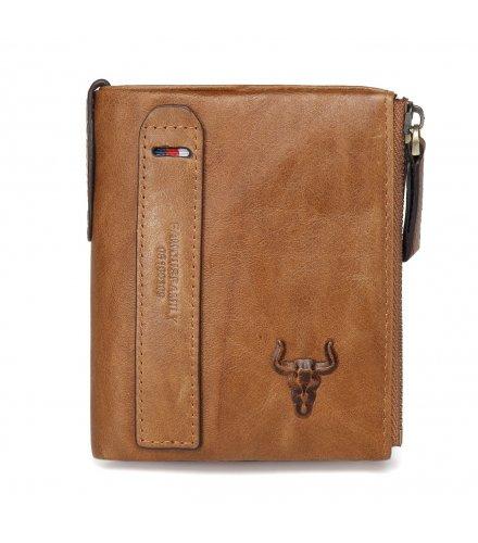 WA241 - Men's casual fashion double zipper Wallet