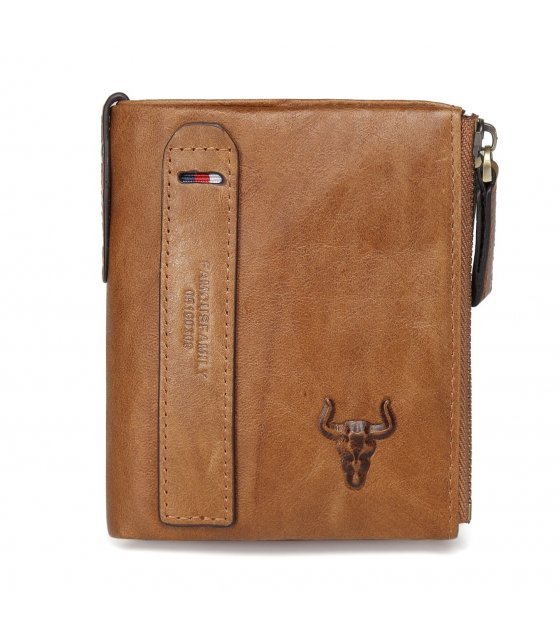 WA241 - Men's casual fashion double zipper Wallet