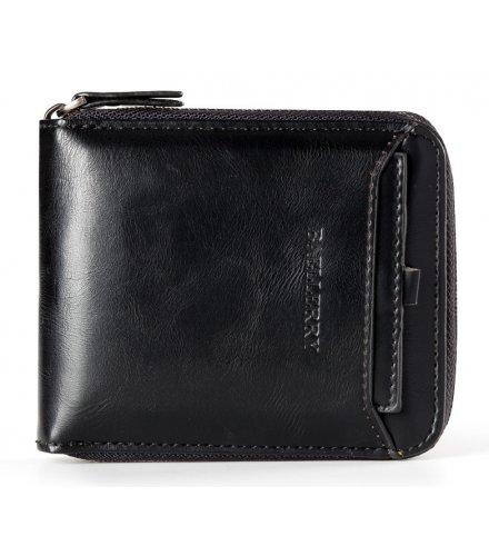 WA261 - Vertical zipper retro wallet