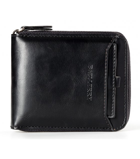 WA261 - Vertical zipper retro wallet