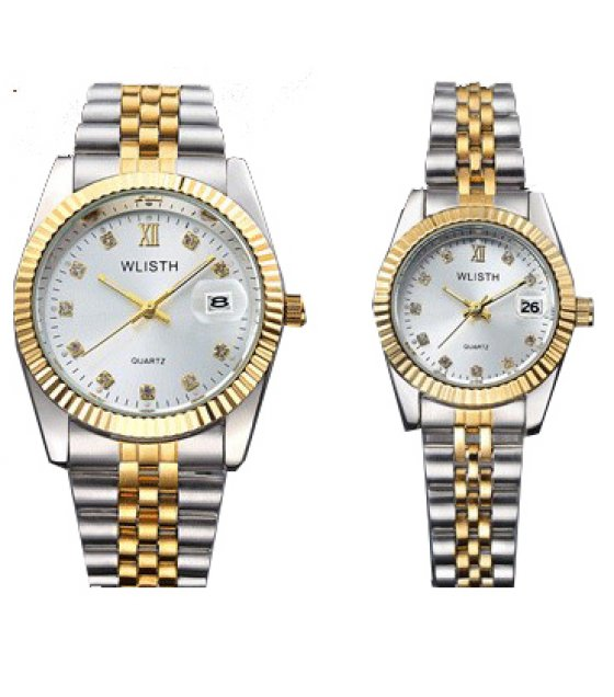 CW015 - Luxury Silver Couple Watch