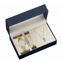CW046 - Set of Quartz Watch Bracelet And Necklace Gift Set