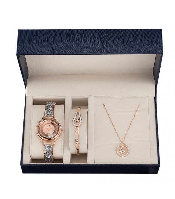 CW055 - Zircon diamond necklace Watch Gift Box