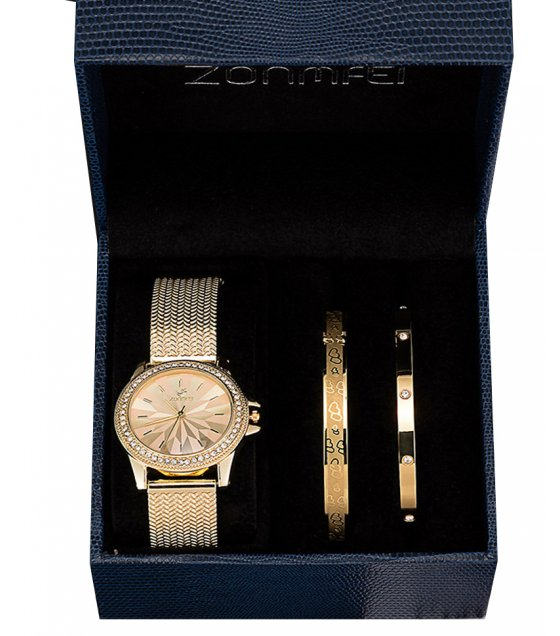 CW059 - ZONMFEI stainless steel bracelet watch set