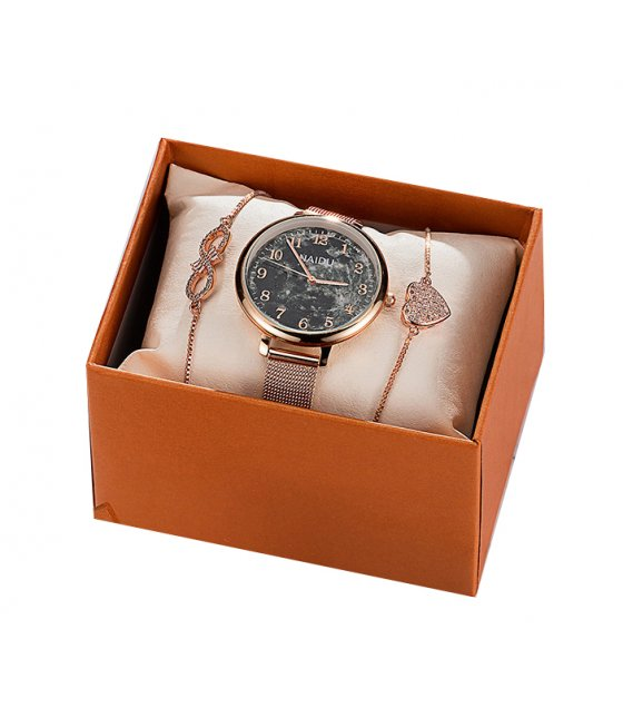CW063 - Casual snowflake Watch Gift Box Set
