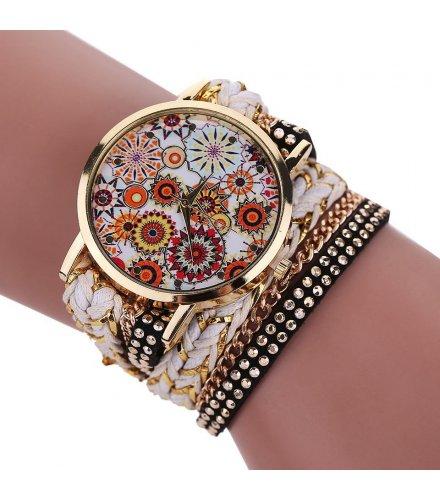 W1007 - Strap rivet weave pattern watch