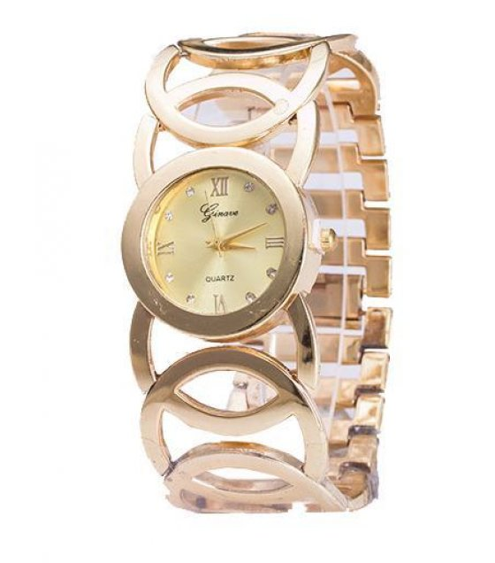 W1018 - Gold diamond bracelet watch