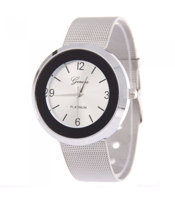 W1019 - New Geneva White Face Dial Watch