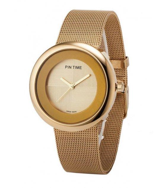 W1044 - Round Mesh Strap Watch