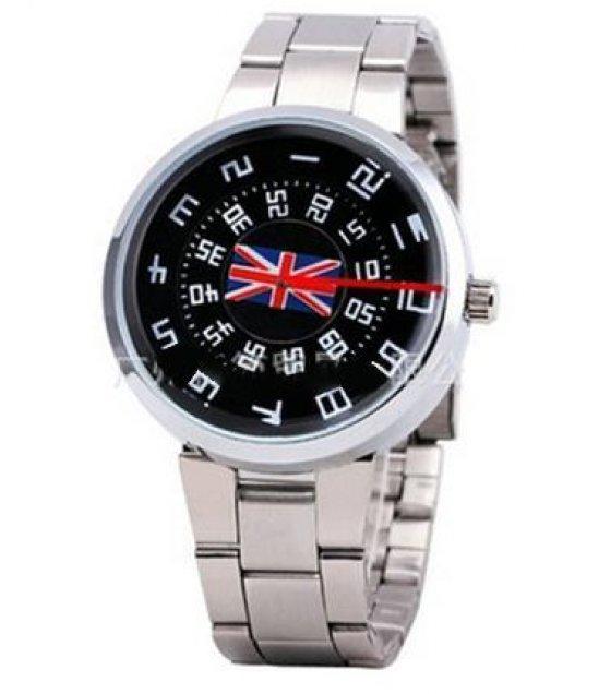 W1050 - Black Flag Dial Watch