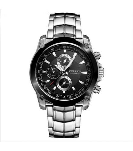 W1131 - CURREN threeface Silver Metal Watch