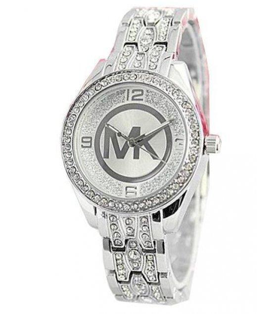 W1239 - MK Logo Silver Watch