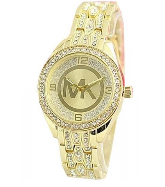 W1240 - MK Logo Gold Watch