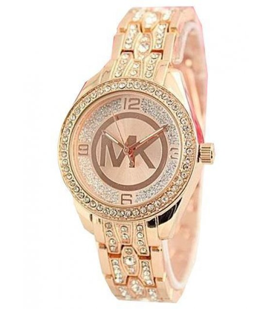 W1241 - MK Logo Rose Gold Watch
