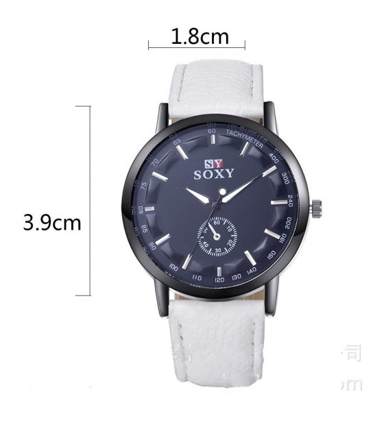 W1407 - White Soxy Trendy Watch
