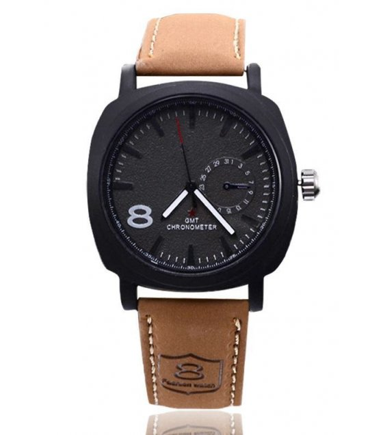 W1411 - PU leather Casual Leather watch