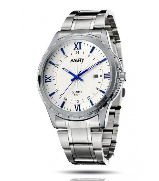 W1416 - NARY Formal Silver Watch