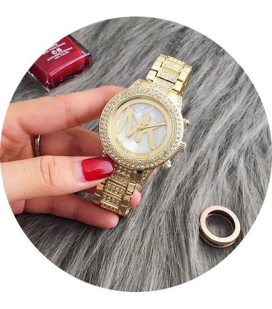 W1444 - Gold Rhinestone MK Watch