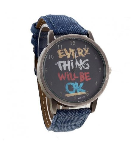 W152 - Blue Strapped Multicolored Watch