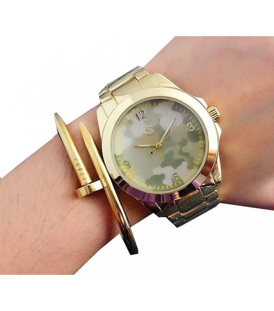W1544 - Gold Camouflage Contena Watch