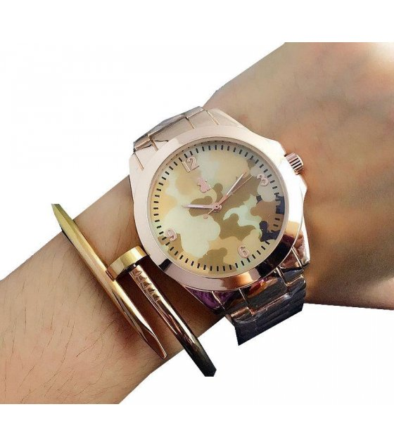 W1545 - Rose Gold Camouflage MK Watch