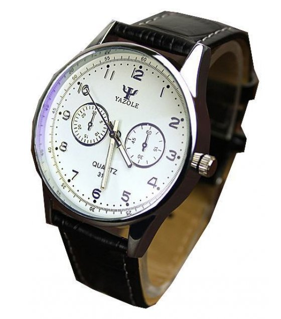 W1592 - Yazole Black Strap Watch