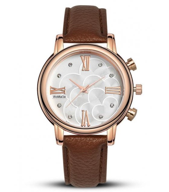 W1605 - Brown Strap Watch