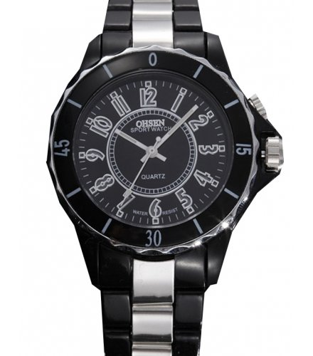 W1831 - Striped Black Men's Watch
